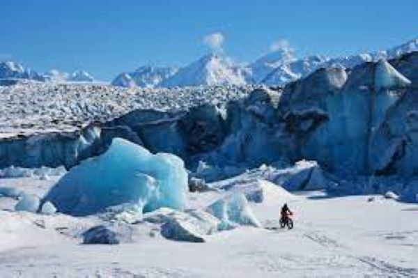 Imagen del glaciar Knik, en Alaska