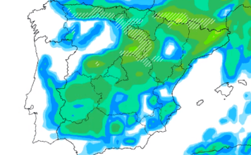 La parte más activa de las precipitaciones llegará domingo y lunes próximos