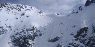 Vista de uno de los aludes de los Alpes franceses