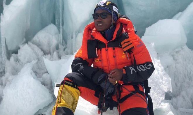 Una imagen de Rita en el Everest