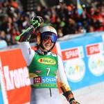 Petra Vlhova el pasado sábado en Soelden, donde acabó tercera por detrás de Shiffrin y Gut.
