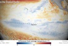 La 'Niña' comporta anomalías negativas de temperatura durante tres meses en el océano Pacífico