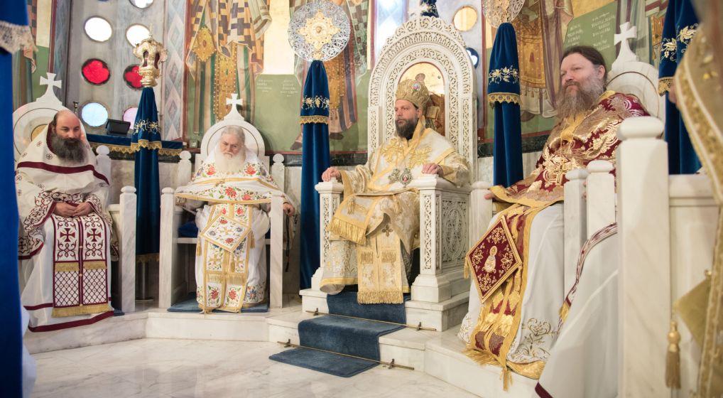 Αρχιερατική Θεία Λειτουργία ενώπιον της Τιμίας Ζώνης της Θεοτόκου στη Νέα Ιωνία