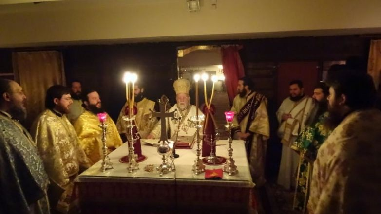 Αγρυπνία για την εορτή του Οσίου Μακαρίου στην Καλογρέζα