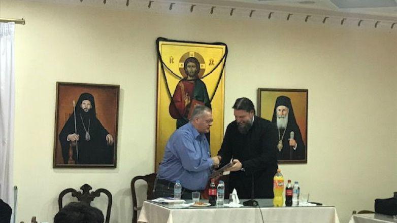 Ο Νευροχειρούργος Γεώργιος Κουτσουμπέλης στην συνάντηση του Μητροπολίτη κ. Γαβριήλ με τους νέους