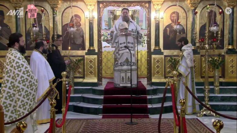 Η Κυριακάτικη Θεία Λειτουργία ζωντανά από την τηλεόραση του ΑΝΤ1