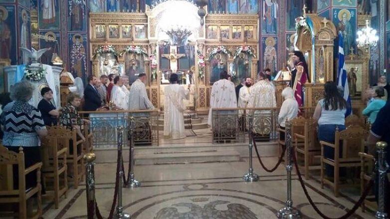 Εσπερινός Αγίου Πνεύματος στην Αγία Τριάδα Ν. Φιλαδελφείας