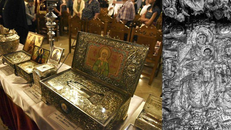 Συνεχίζεται η προσκύνηση της θαυματουργού Εικόνος της Παναγίας της Διασώζουσας και των Ιερών Λειψάνων των Μικρασιατών Αγίων στον Μητροπολιτικό Ναό Αγ. Αναργύρων Ν. Ιωνίας