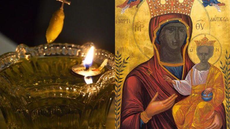 Ιερό Ευχέλαιο για την Παναγία την Μυρτιδιώτισσα στον Μητροπολιτικό Ναό Αγίων Αναργύρων Νέας Ιωνίας