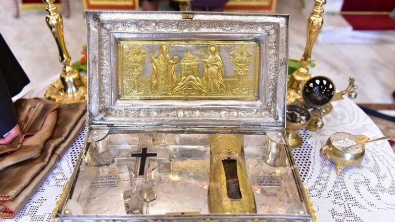 Το Τίμιο Ξύλο και η άφθαρτη χείρα της Αγίας Μαρίας της Μαγδαληνής από την Ι.Μ. Σίμωνος Πέτρας Αγ. Όρους στη Ν. Φιλαδέλφεια (13 - 17 Μαΐου)
