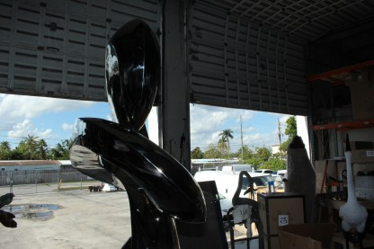 "Modern arts - large statue - CC1 -  Size: 52""L x 26""W x 94""H."