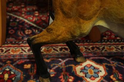 "Bull Heads Down Small Bronze Statue -  Size: 24""L x 6""W x 16""H."