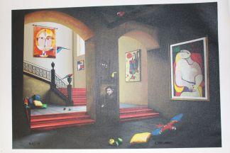"Orlando Quevedo Giclée Painting, Limited Edition -  Size: 21""L x 13.5""W"