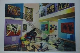 """Orlando Quevedo Giclée - Another Day Painting -  Size: 21""""L x 13.5""""W"""