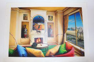 "Orlando Quevedo  Giclée - Morning Glory Painting -  Size: 21""L x 13.5""W"