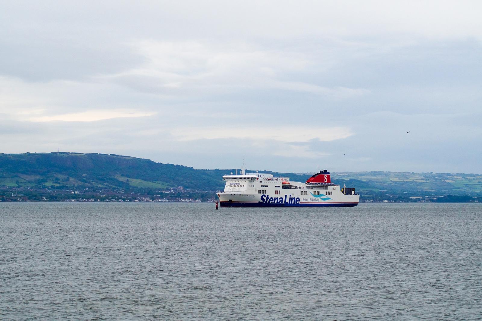 Belfast - Birkenhead ferry Stena Lagan approaches Belfast.