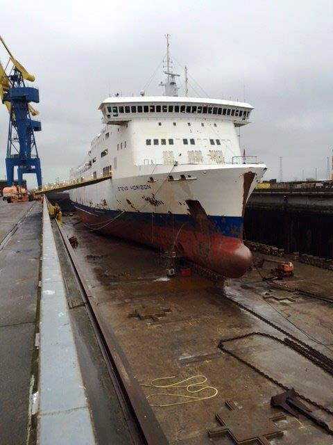 Photo of PR: Stena Horizon refitted at Harland and Wolff.