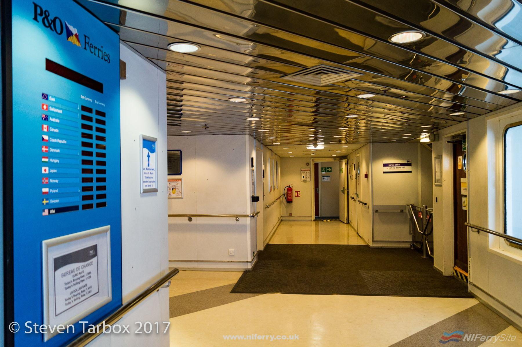 Deck 4 lobby, European Seaway. © Steven Tarbox