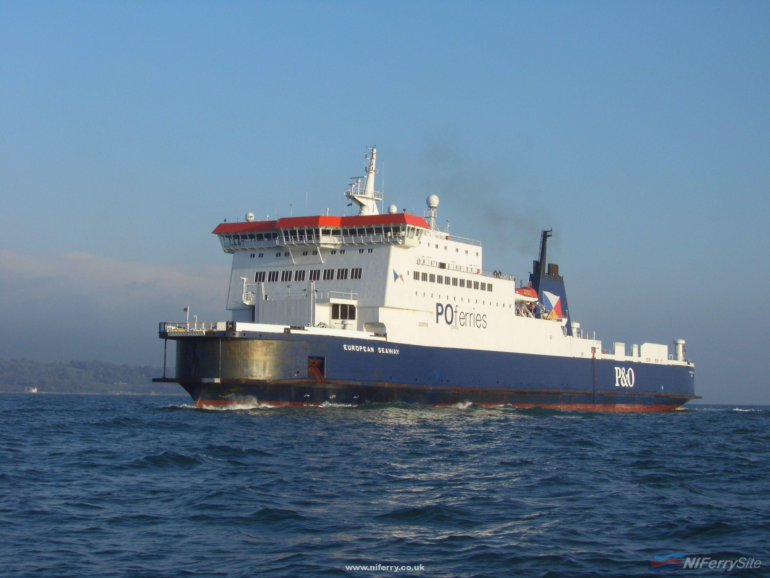 EUROPEAN SEAWAY on her first day at Larne. Copyright © Trevor Kidd