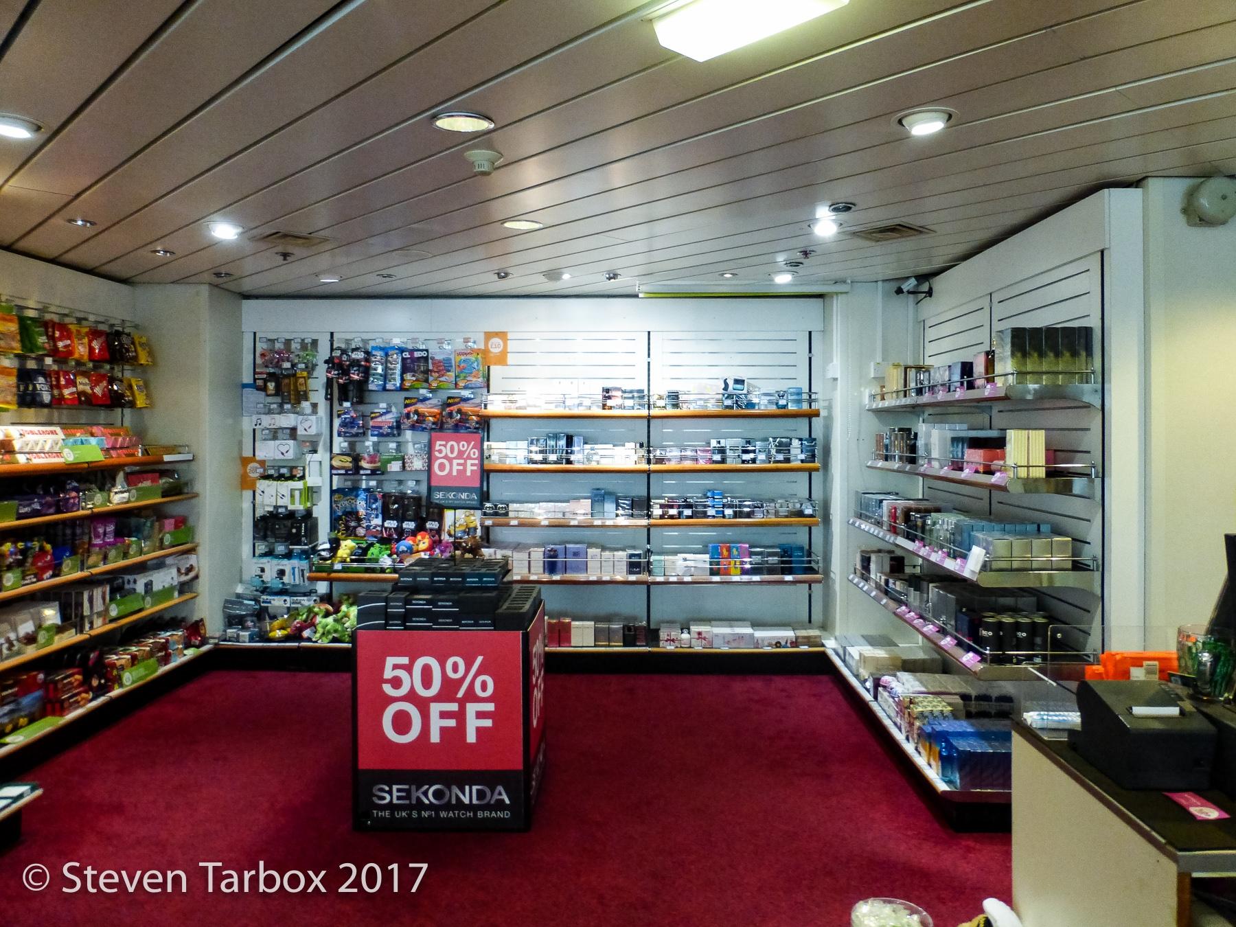 The small shop on-board European Seaway.