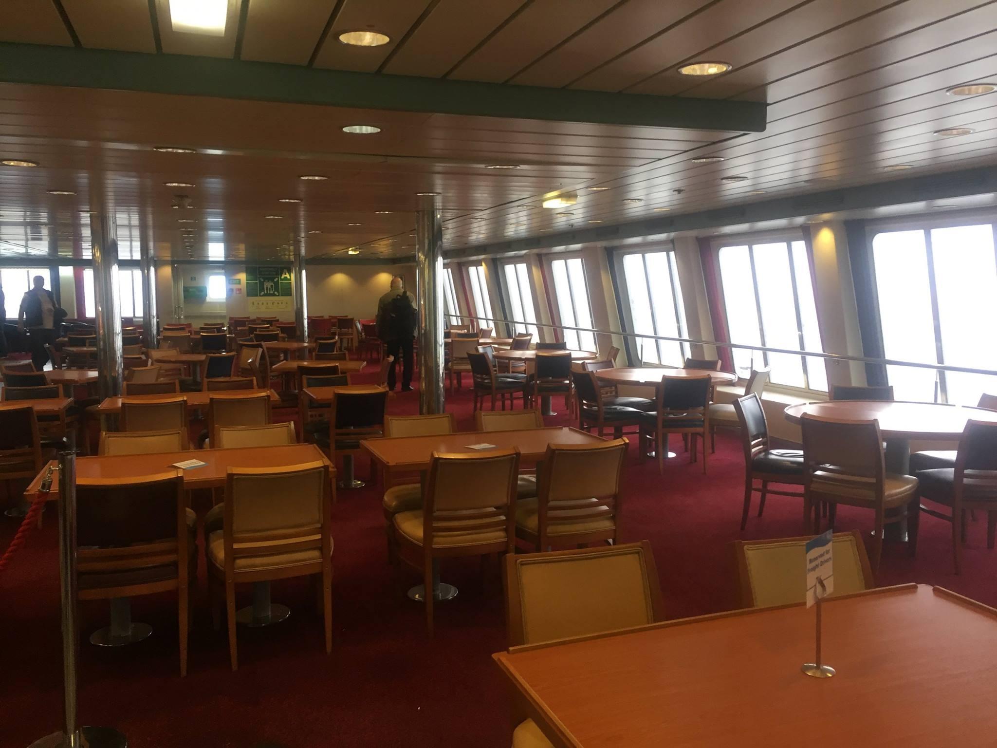 Restaurant seating, European Seaway. © Gary Andrews.
