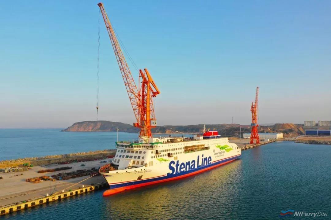 The first Stena E-Flexer STENA ESTRID fitting out at AVIC Weihai. AVIC Ship.