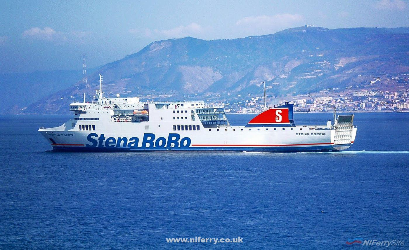 STENA EGERIA after her refit/rebuild for Stena RoRo. She was previously HOA SEN. Stena RoRo.