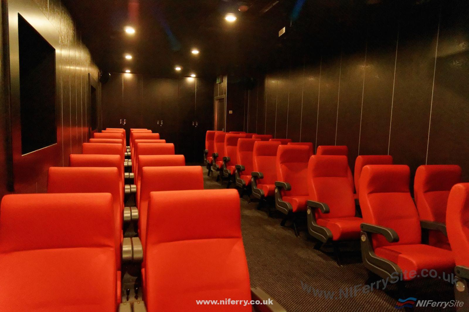 An alternative view of the cinema on Stena Mersey from front to back (looking aft). © Steven Tarbox.