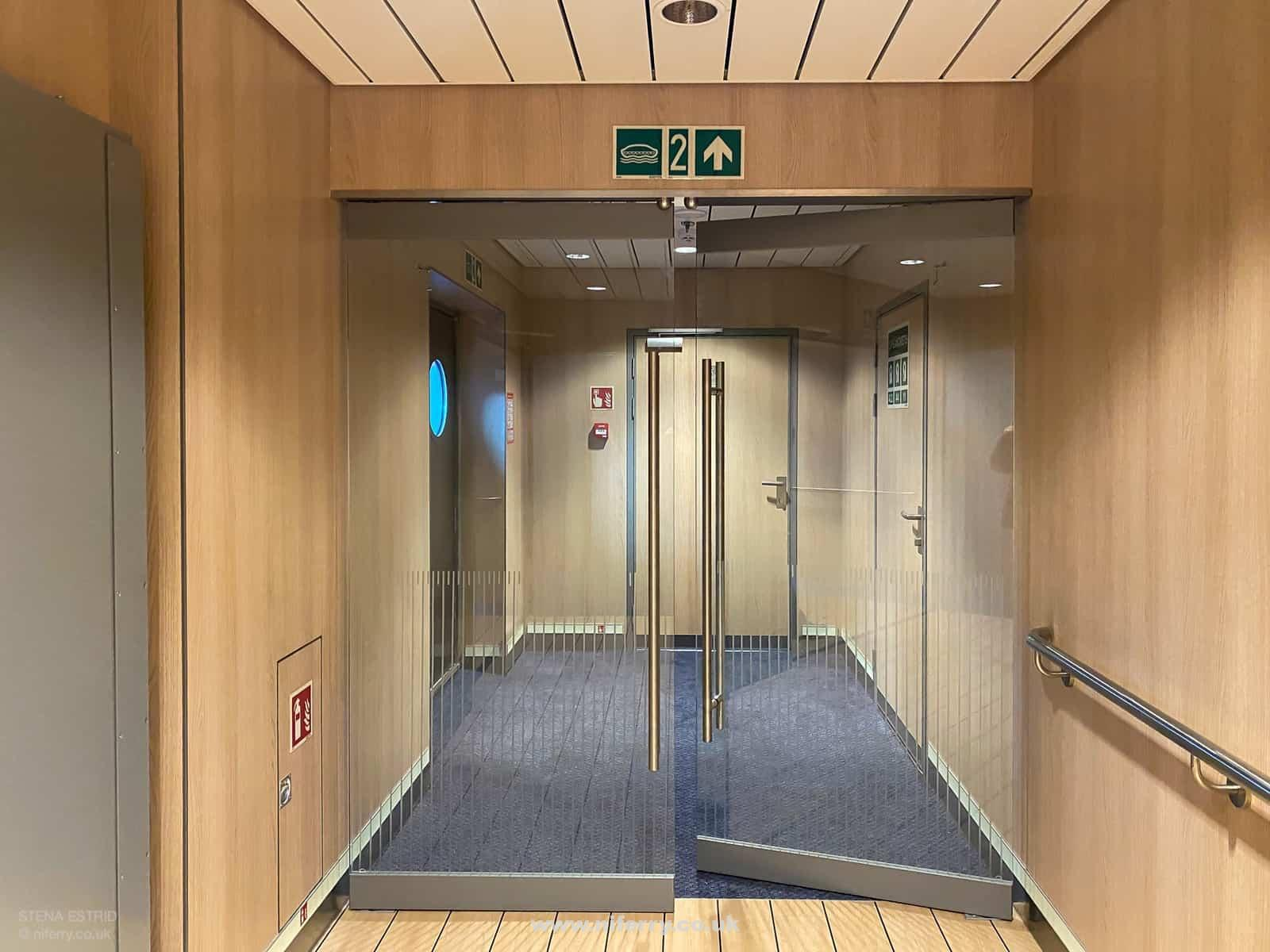One of the entrances to the promenade decks on Deck 7. © NIferry.co.uk