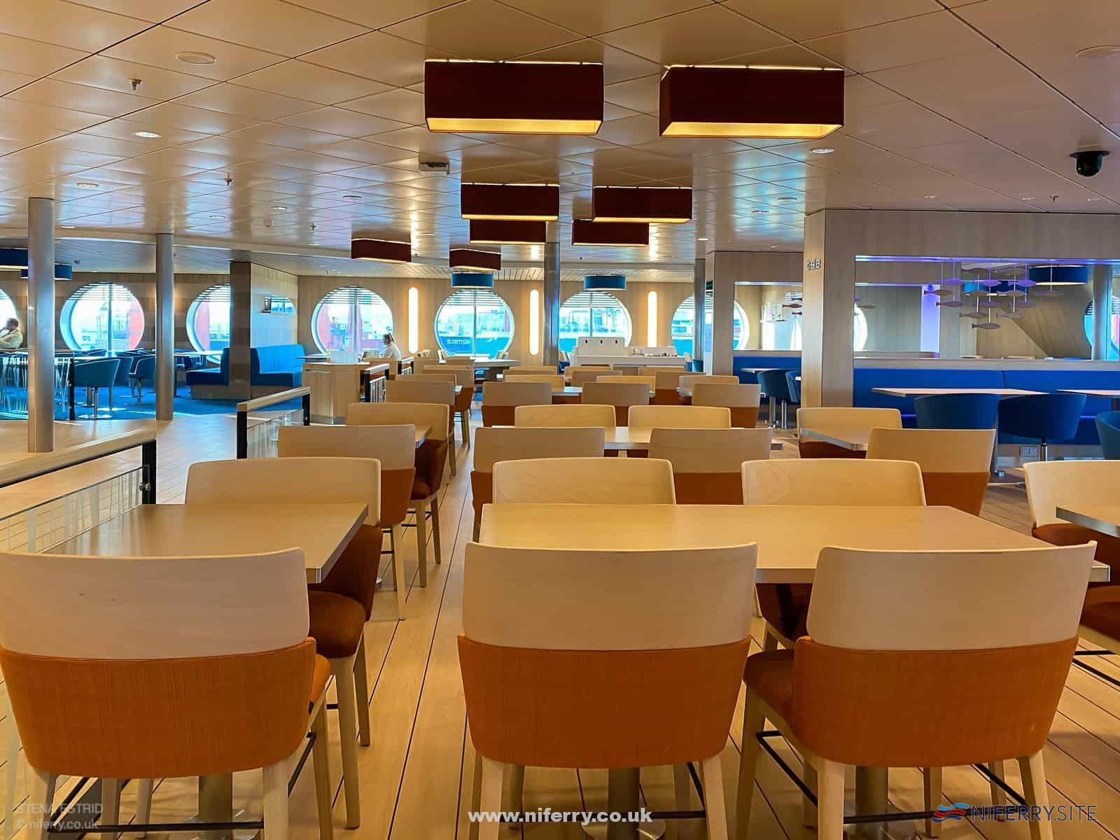 'Taste' restaurant seating. © NIferry.co.uk.