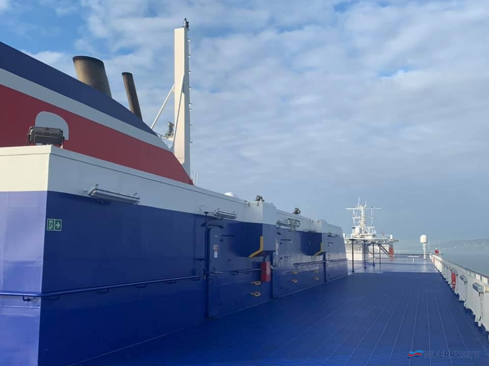 The sun deck on STENA ESTRID. © David Faerder.