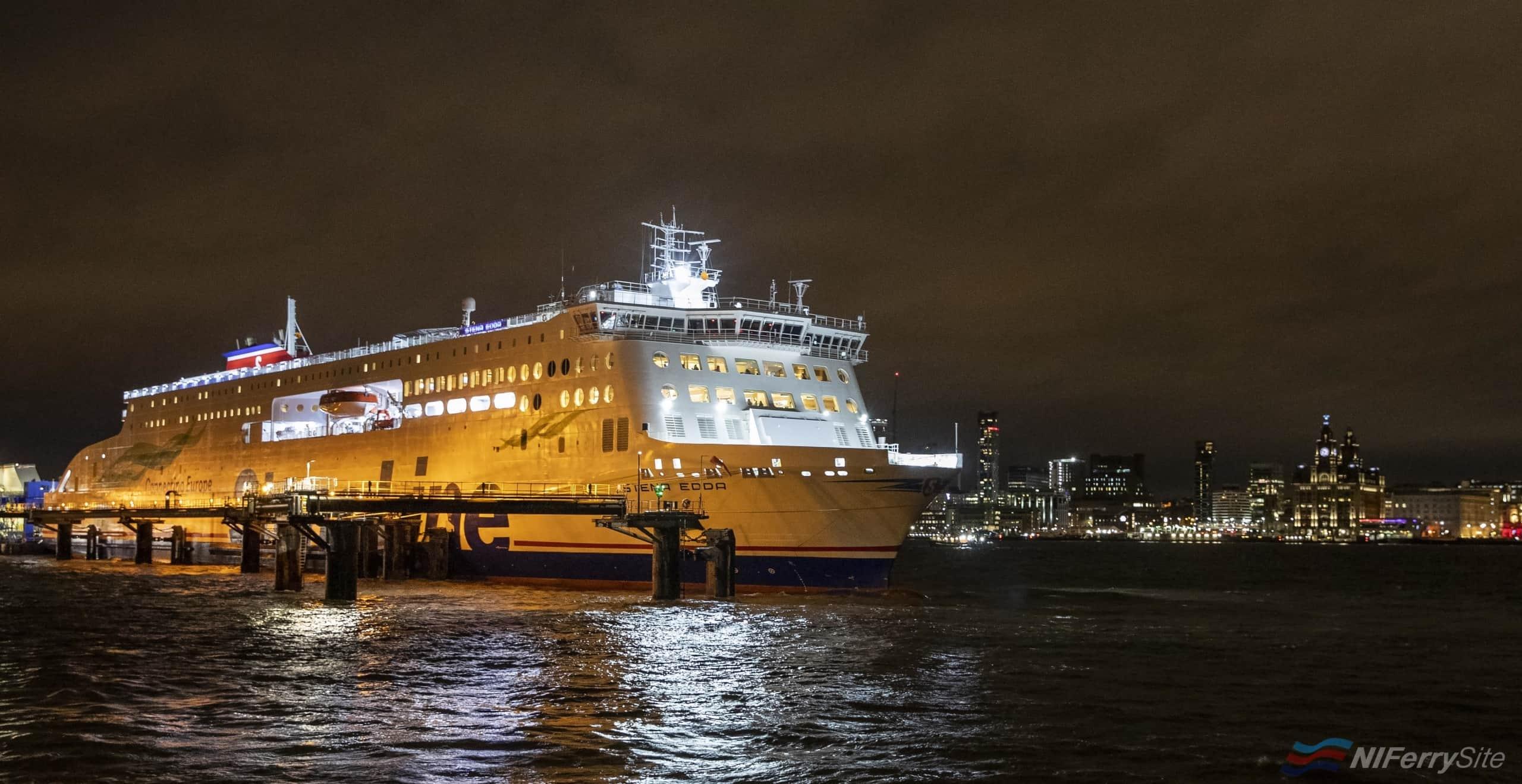 Stena Line Edda sets off on it's maiden voyage. Picture Jason Roberts