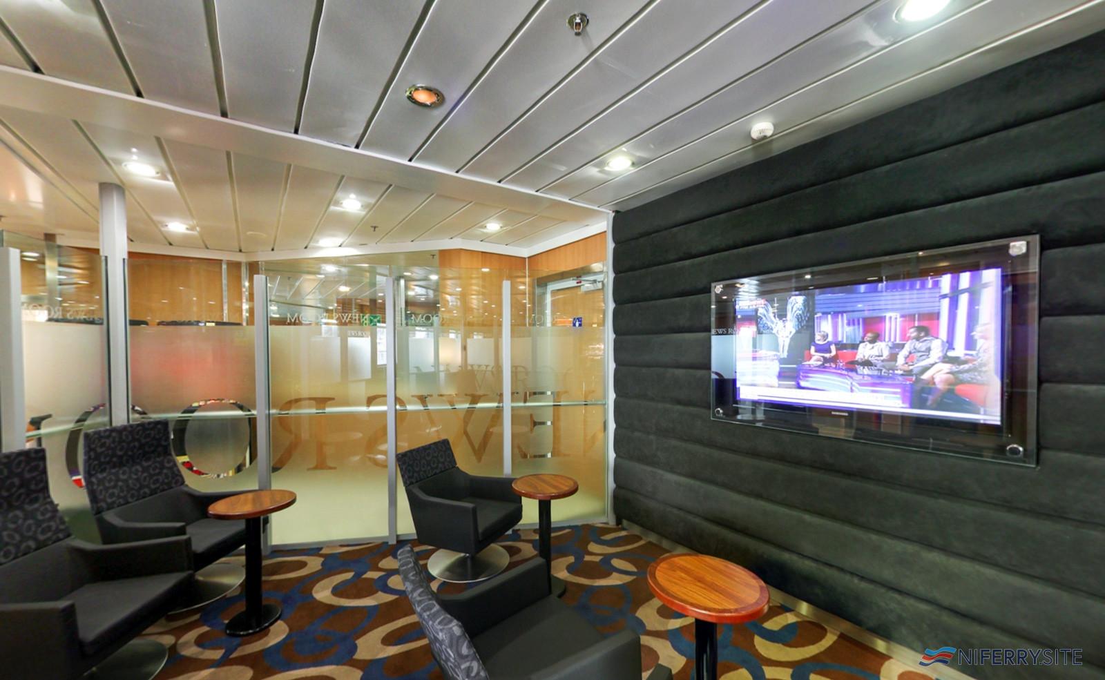 The News Room on Stena Lagan/Stena Mersey. Stena Line.