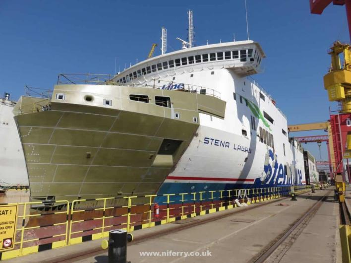 In Pictures] Stena Lagan Split in Two For Lengthening   NI Ferry Site
