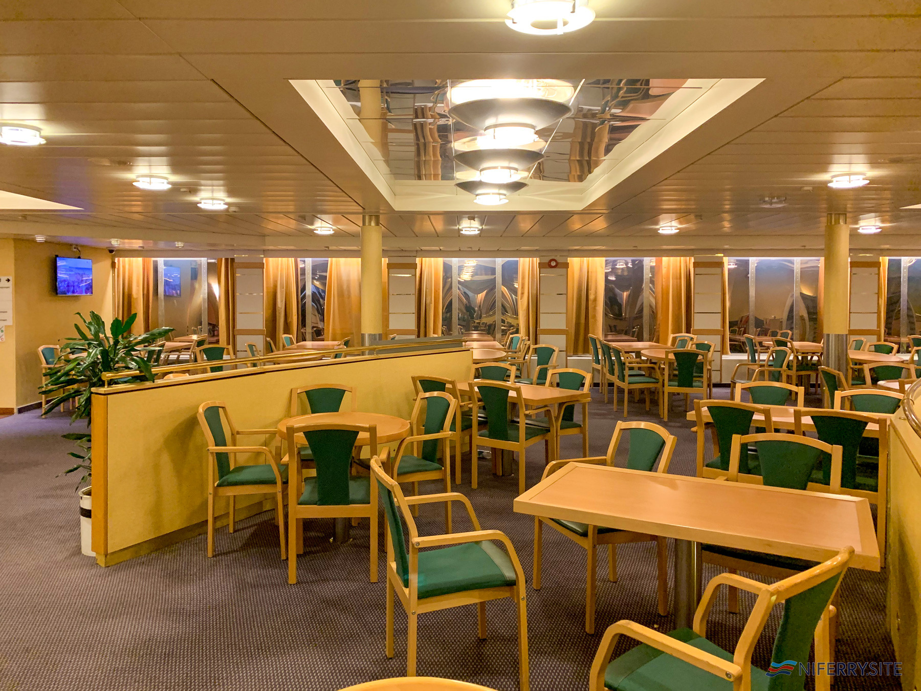 Part of the Food Market / Restaurant Lounge onboard VISBY. Image: © Gary Andrews.