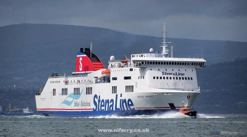 Stena Mersey with one of the Belfast pilot boats during the Tall Ships 2015. Copyright © Ross McDonald.