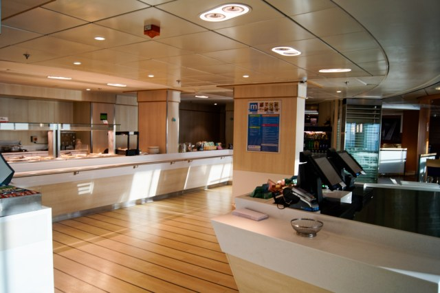 """The Met Grill onboard Stena Superfast X. Somewhat different to """"Taste"""" in the equivalent space onboard Stena Superfast VII/VIII. Copyright © Steven Tarbox"""
