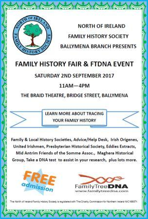 Ballymena Family History Fair and FTDNA Event