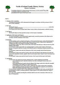 Branch Constitution