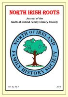 Front cover of North Irish Roots Vol. 30.1