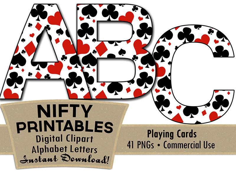 Casino Alphabet Poker Theme Nifty Printables