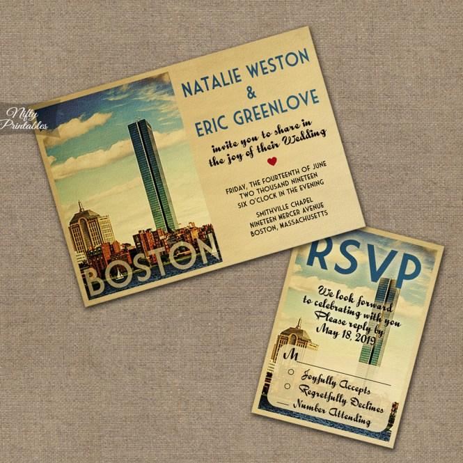 Boston Wedding Invitations Vtw