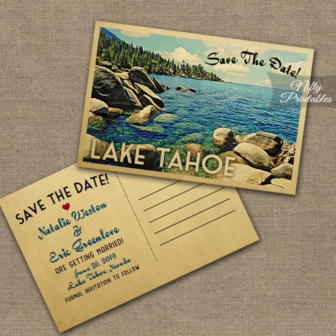 Lake Tahoe Wedding Invitations Vtw Nifty Printables