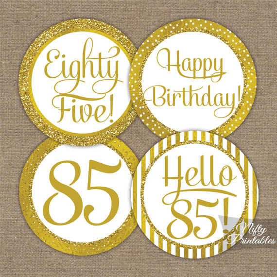 85th Birthday Cards Printable