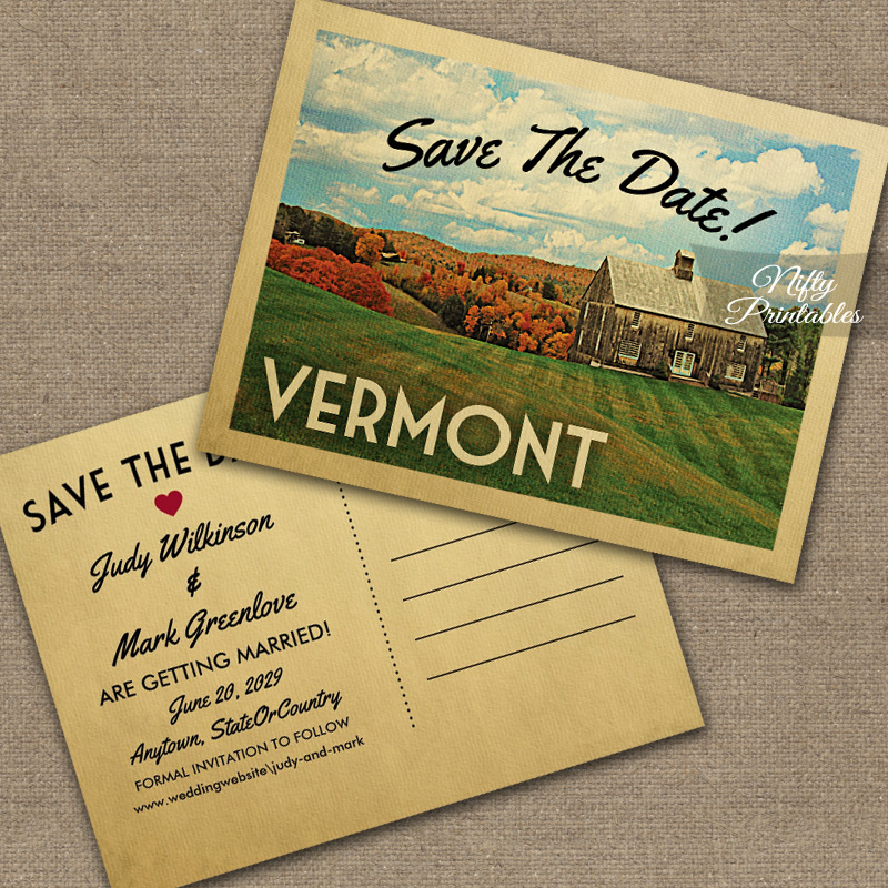 Save Date Cards Autumn Theme