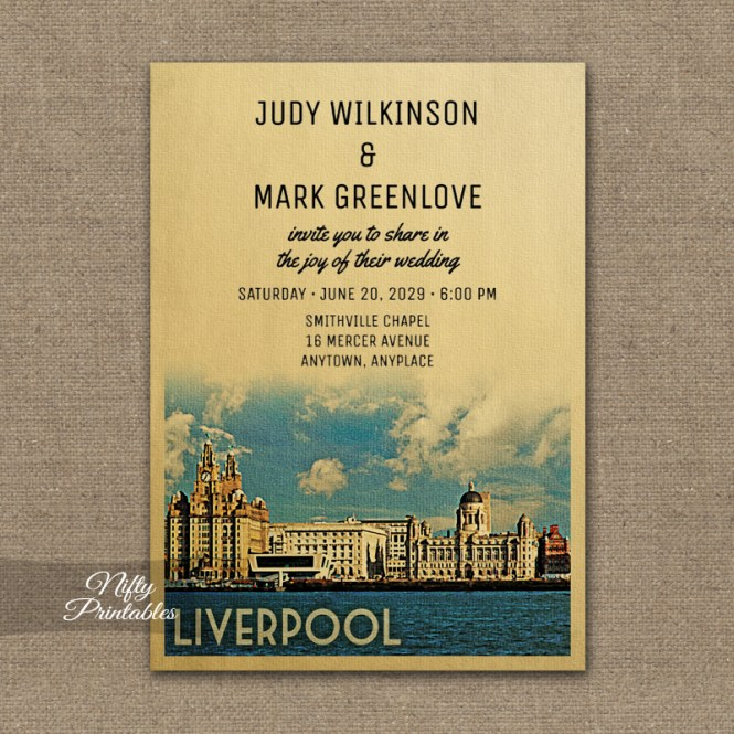 Liverpool Wedding Invitation Printed Nifty Printables