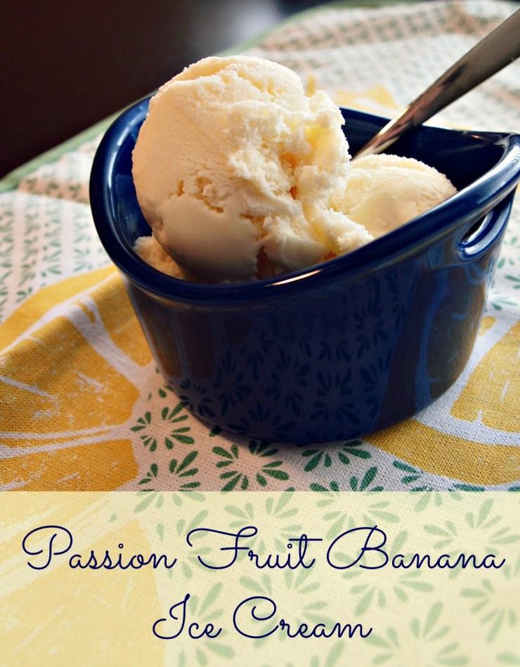 Passionfruit Banana Ice Cream