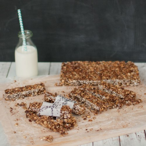 Basic Recipe for Granola Bars from {nifty thrifty things}