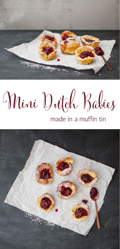 Mini Dutch Babies - Made in a Muffin Tin from {nifty thrifty things}