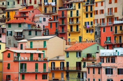 Colorful houses at Manarola